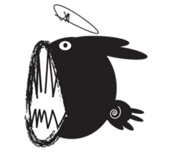 The Weird Black Rabbit 'RABIRA' sticker #582132