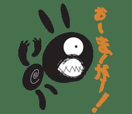 The Weird Black Rabbit 'RABIRA' sticker #582142