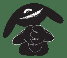 The Weird Black Rabbit 'RABIRA' sticker #582152