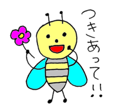 a bee in love sticker #582166