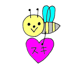 a bee in love sticker #582179