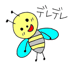 a bee in love sticker #582180