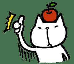 cat and apple0 sticker #582434