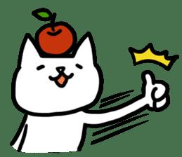 cat and apple0 sticker #582435