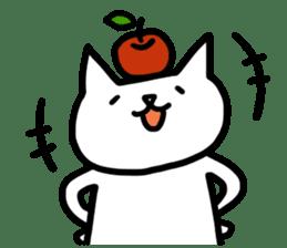 cat and apple0 sticker #582437