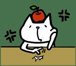 cat and apple0 sticker #582439