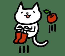 cat and apple0 sticker #582440