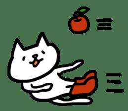 cat and apple0 sticker #582441