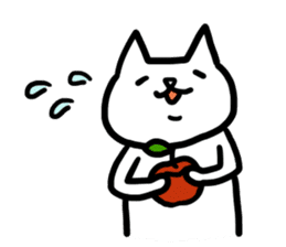 cat and apple0 sticker #582443