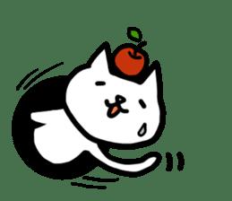 cat and apple0 sticker #582445