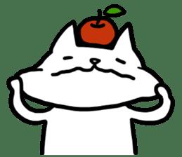 cat and apple0 sticker #582446