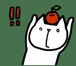 cat and apple0 sticker #582447