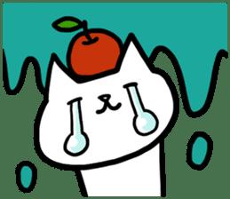 cat and apple0 sticker #582452