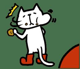 cat and apple0 sticker #582454
