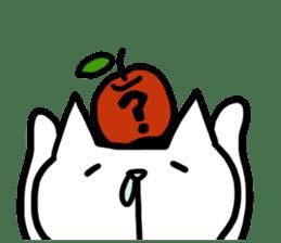 cat and apple0 sticker #582456