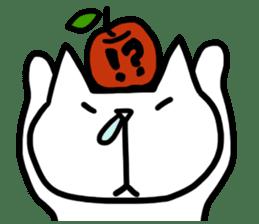 cat and apple0 sticker #582457