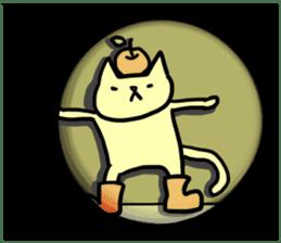 cat and apple0 sticker #582458