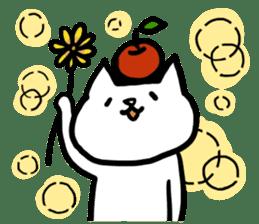 cat and apple0 sticker #582461