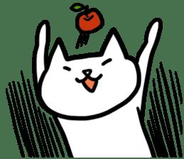 cat and apple0 sticker #582463