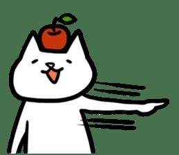 cat and apple0 sticker #582465