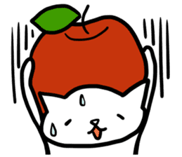 cat and apple0 sticker #582466