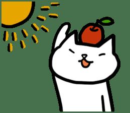 cat and apple0 sticker #582467