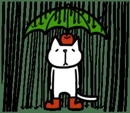 cat and apple0 sticker #582469