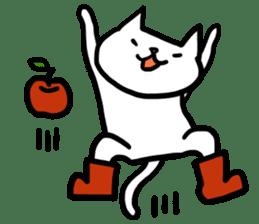 cat and apple0 sticker #582470