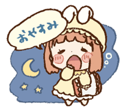 Usa-chan hood sticker #583475