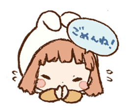 Usa-chan hood sticker #583492