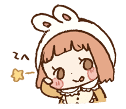 Usa-chan hood sticker #583493