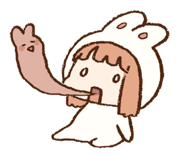 Usa-chan hood sticker #583499