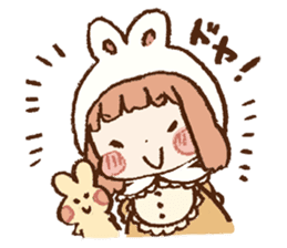 Usa-chan hood sticker #583500