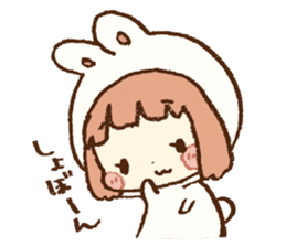 Usa-chan hood sticker #583501