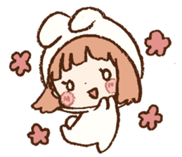 Usa-chan hood sticker #583512