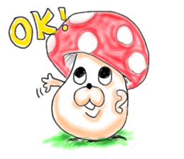 Mushroom friend sticker #584114