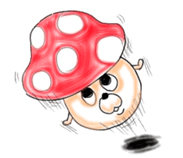 Mushroom friend sticker #584115