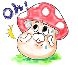 Mushroom friend sticker #584119
