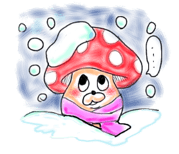 Mushroom friend sticker #584120