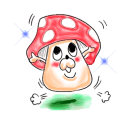 Mushroom friend sticker #584122