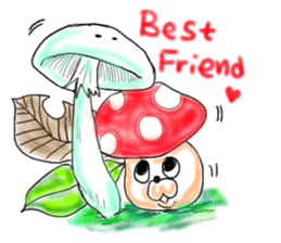 Mushroom friend sticker #584124