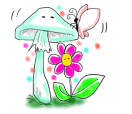 Mushroom friend sticker #584145