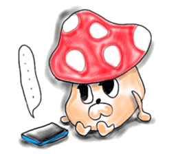 Mushroom friend sticker #584152
