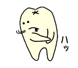 Sticker of cute tooth (ver with words) sticker #584379