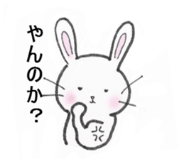 overbite Rabbit sticker #584428