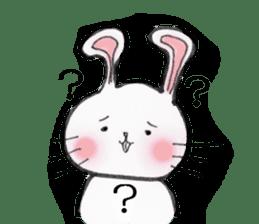 overbite Rabbit sticker #584429