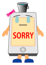 ms japanese jealous mobile diary stamp sticker #584553