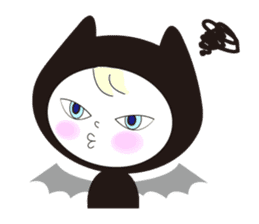 Lovely satan and twin cats sticker #584863