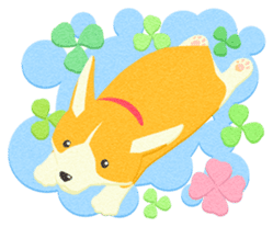 Dogs of felted texture sticker #584938