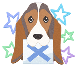 Dogs of felted texture sticker #584949